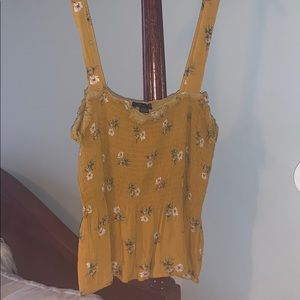 American Eagle Yellow Floral Tank